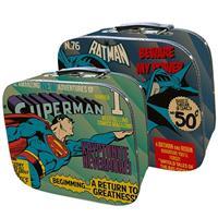 Kit 2 peças de maletas lona do Superman voando