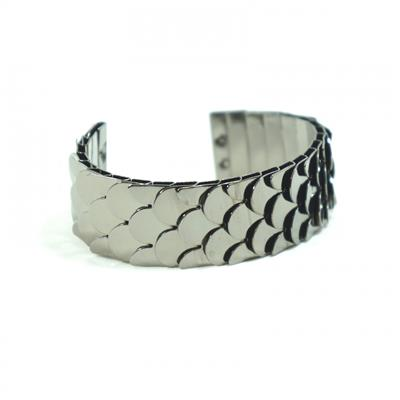 Bracelete chumbo tipo escamas