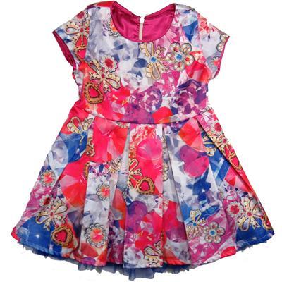 Vestido Infantil Cetim com Tule - Colorittá