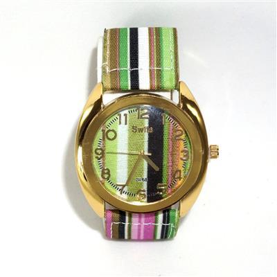 Relógio Colorido de Couro Sintético