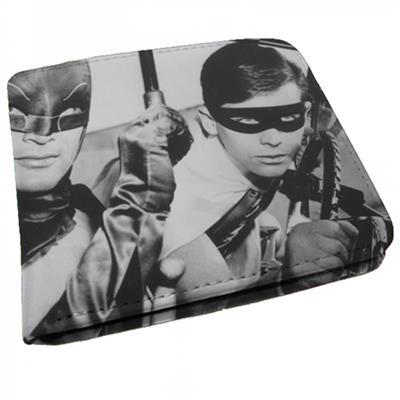 Carteira preta e branca do Batman e Robin