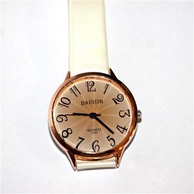 Relógio branco com dourado Baisdn