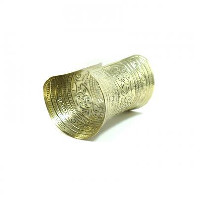 Bracelete dourado envelhecido