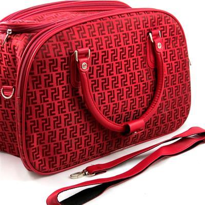 Conjunto Mala com rodinhas e Bolsa de mão para viagem - Vermelha