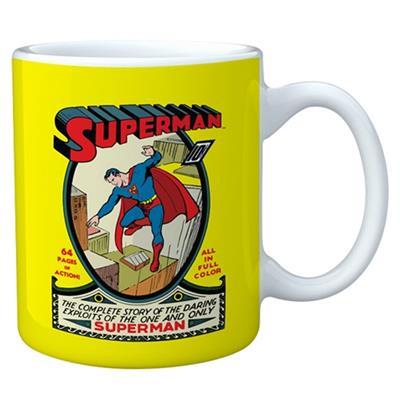 Caneca de porcelana colorida Superman